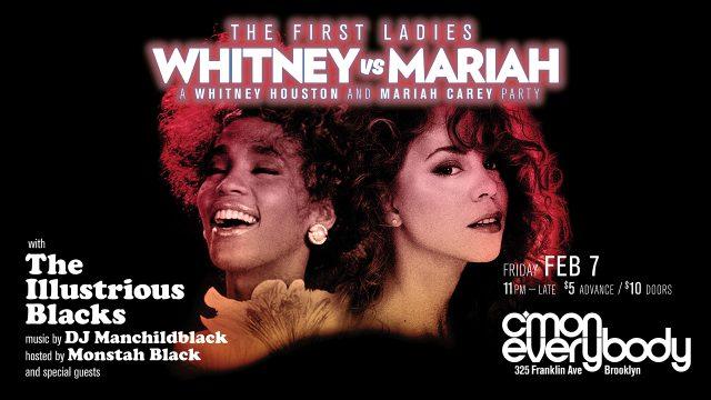 Whitney vs Mariah: A Whitney Houston & Mariah Carey party