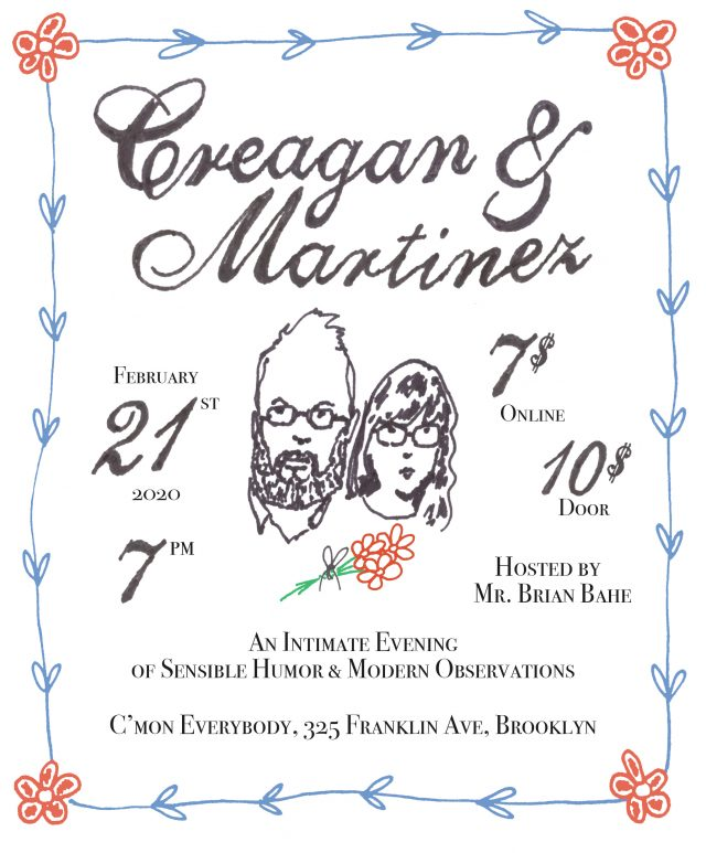 Creagan & Martinez: An Intimate Evening of Sensible Humor & Modern Observations