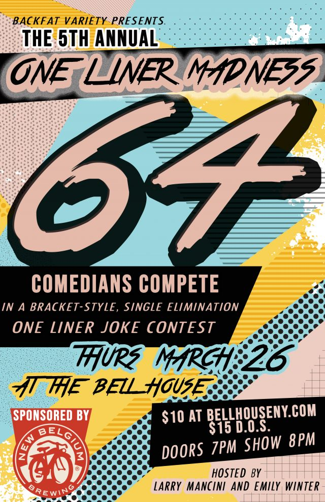 One Liner Madness: A 64-Comedian Joke Contest